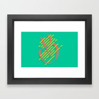 Tropical B Framed Art Print