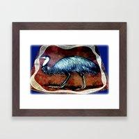 Aboriginal Art - Emu Framed Art Print