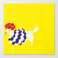 French Poodle Canvas Print
