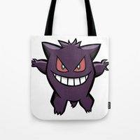 Gengar The Ghost - First Generation Pocket Monsters Design Cartoon Tote Bag