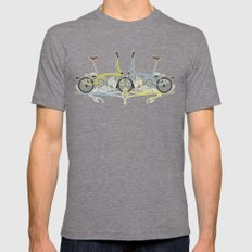 Brompton Bicycle Mens Fitted Tee Tri-Grey SMALL