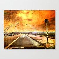 Bridge Over Troubled Wat… Canvas Print