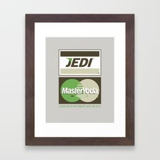 Brand Wars: Jedi Master Yoda Framed Art Print