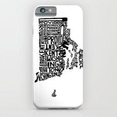 Typographic Rhode Island Slim Case iPhone 6s