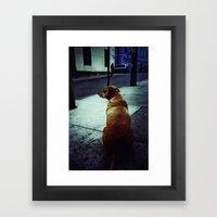 Doggie Waits Framed Art Print