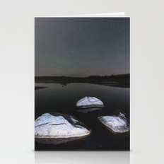 Boulders In Black Stationery Cards