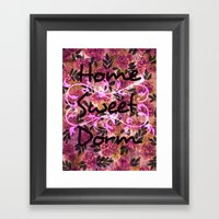HOME SWEET DORM Colorful… Framed Art Print
