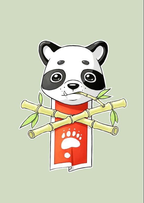 Panda Banner Art Print