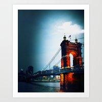 Singing Bridge, Cincinnati Art Print