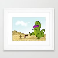 Run Run as fast as you can .. Framed Art Print