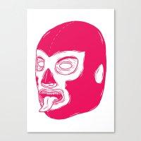 Pink Luchador Canvas Print