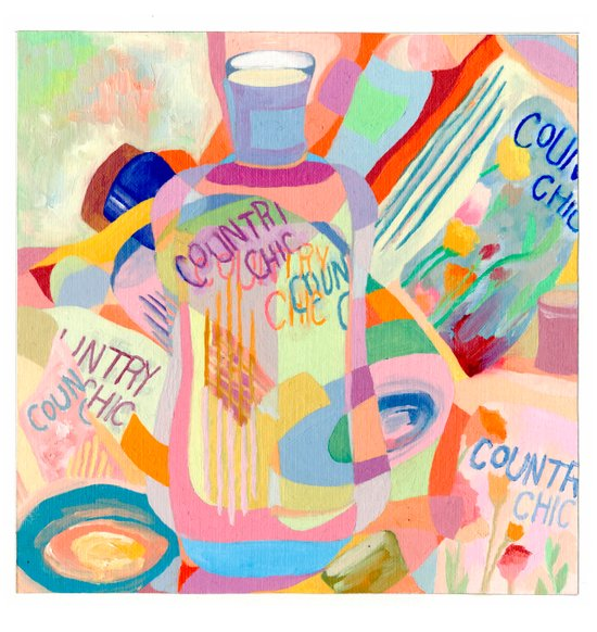 Country Chic lotions Art Print