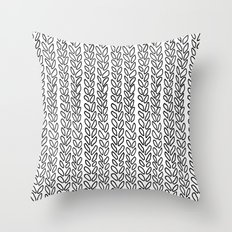 Knit Outline Zoom Throw Pillow