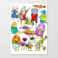 Critter collection Canvas Print