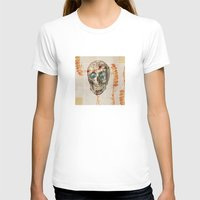 Skull#04 Womens Fitted Tee White SMALL