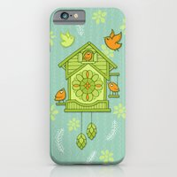 iPhone & iPod Case featuring Cuckoo Time green by Floating Lemons
