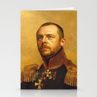 Simon Pegg - replaceface Stationery Cards