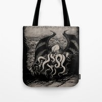 The Rise Of Great Cthulh… Tote Bag