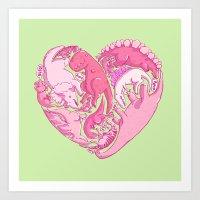 Loveasaurus Art Print