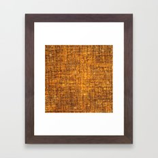 Yellow wooden textured background Framed Art Print