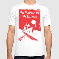 Das Kabinett Des Dr Cali… Mens Fitted Tee White SMALL