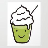 Green Tea Frappuccino Art Print