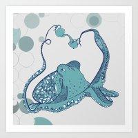 Octopus ! Art Print