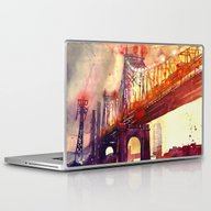 Laptop & iPad Skin featuring Queensboro Bridge by Takmaj