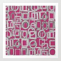 Picture Frames Aplenty F… Art Print