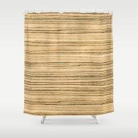 Zebrawood Shower Curtain
