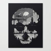 Echoes - Monochrome version Canvas Print