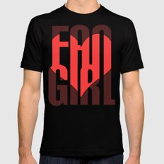 FAN GIRL Mens Fitted Tee Black SMALL