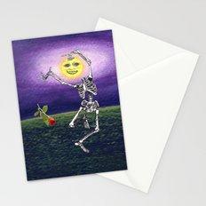Skeleton Moon Stationery Cards