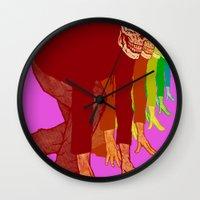 The Racing Rainbow Skulls Wall Clock