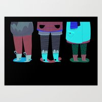 shoes Art Prints featuring Shoes by genie espinosa