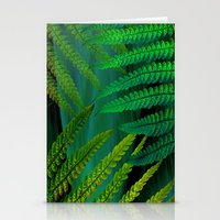 Forest Fern Green Stationery Cards