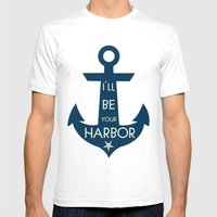 Harbor Mens Fitted Tee White SMALL
