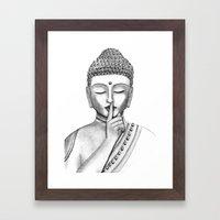 Shh... Do not disturb - Buddha Framed Art Print