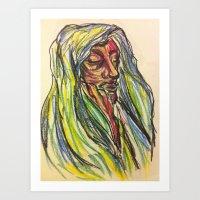 Mourn-Rose. Art Print