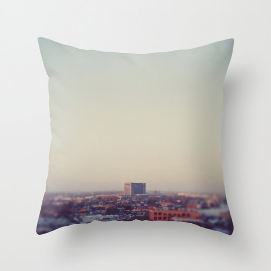 Morning Over Detroit Throw Pillow