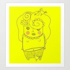 Miss cip tracy Art Print