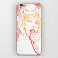 Aviator girl 002 iPhone & iPod Skin