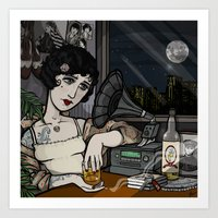 Lonesome Flapper. Art Print