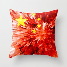 China Flag - Extrude Throw Pillow