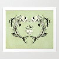 Fishbones Art Print