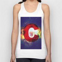 Colorado Flag/Galaxy Pri… Unisex Tank Top