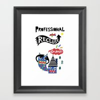 Professional Recluse Framed Art Print