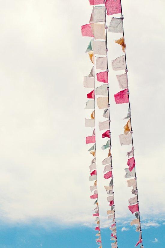 prayer flags no. 2 Art Print