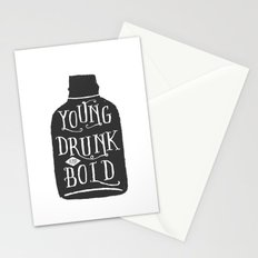 Young, Drunk and Bold Stationery Cards