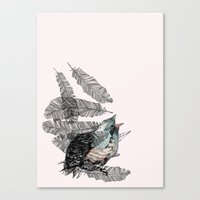 Canvas Print featuring Birdster by Stroke a Bird